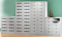 Folder holder with 10 or 20 parcels counters with spreads