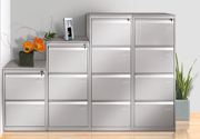 Filling cabinets with built-in handle obtained in frontal position, 2-3-4 drawers